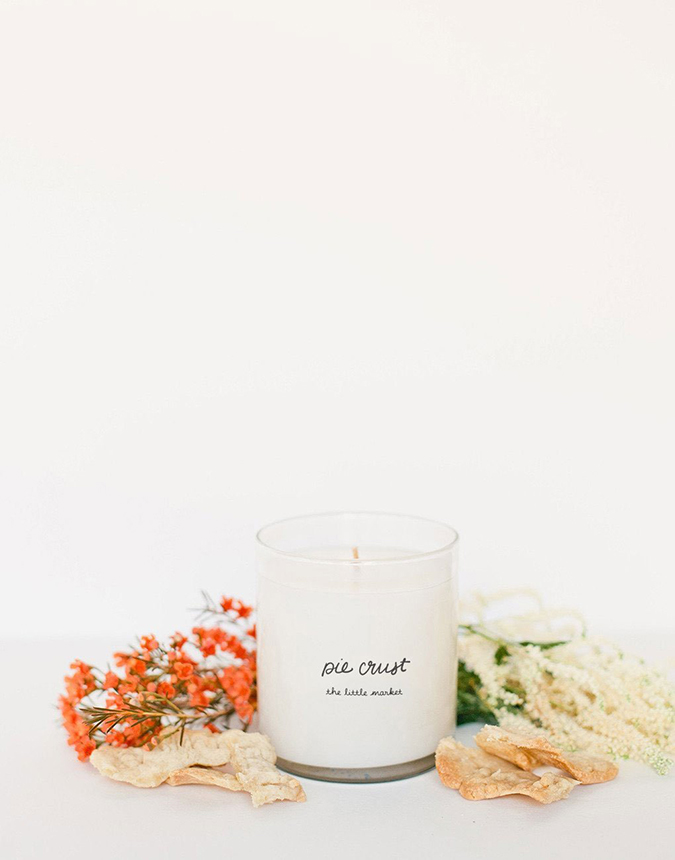 The Little Market pie crust candle