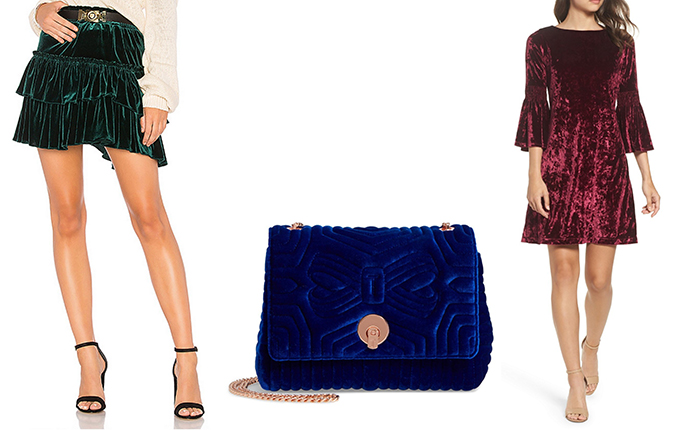 velvet pieces for fall and winter