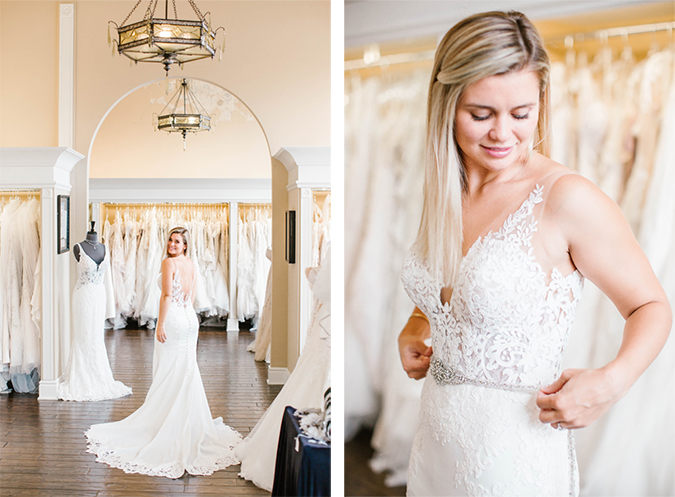 wedding dress shopping with stella york | laurenconrad.com