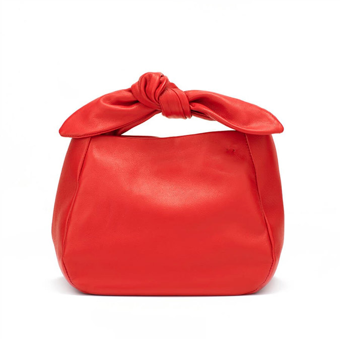 red mini bow bag