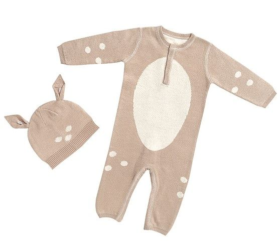 pottery barn kids fawn hat and onesie