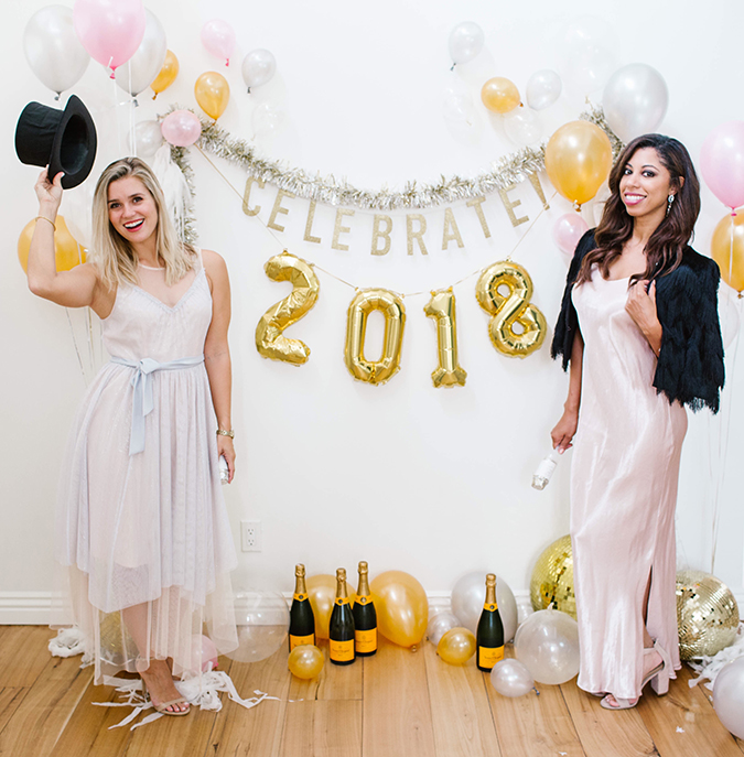 NYE backdrop DIY on LaurenConrad.com
