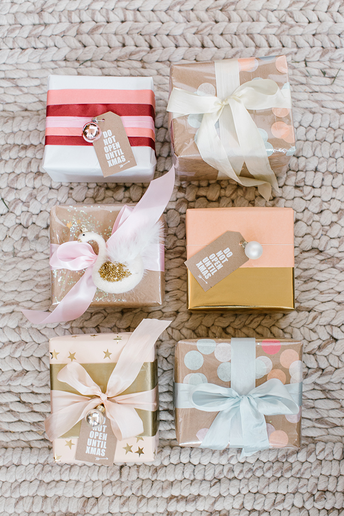 two creative gift wrap ideas for the holidays