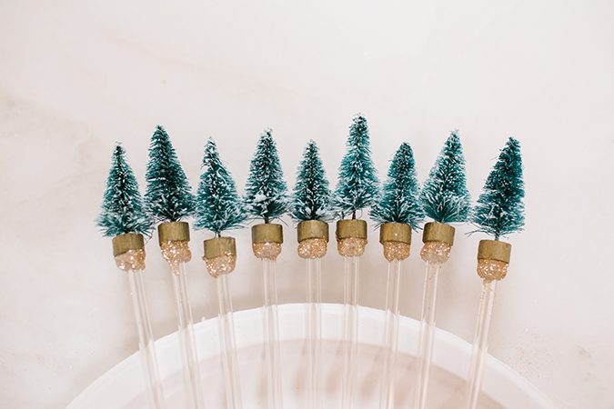 DIY holiday drink stirrers on LaurenConrad.com