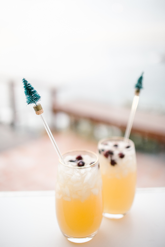 DIY holiday swizzle sticks via LaurenConrad.com