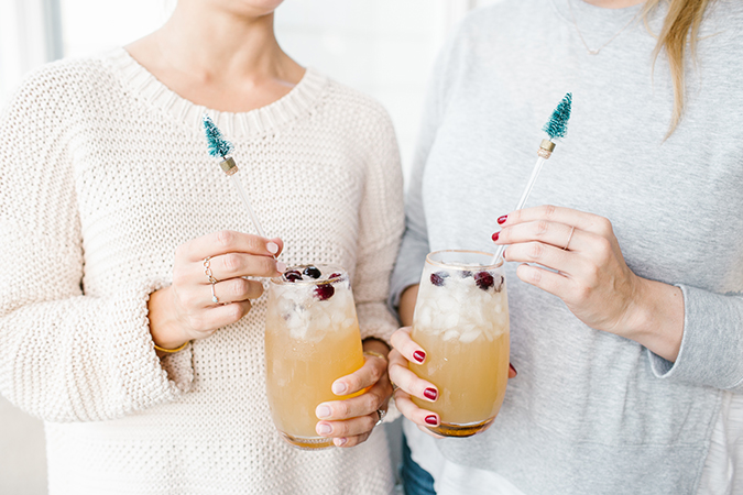 holiday cocktails and drink stirrers on LC.com