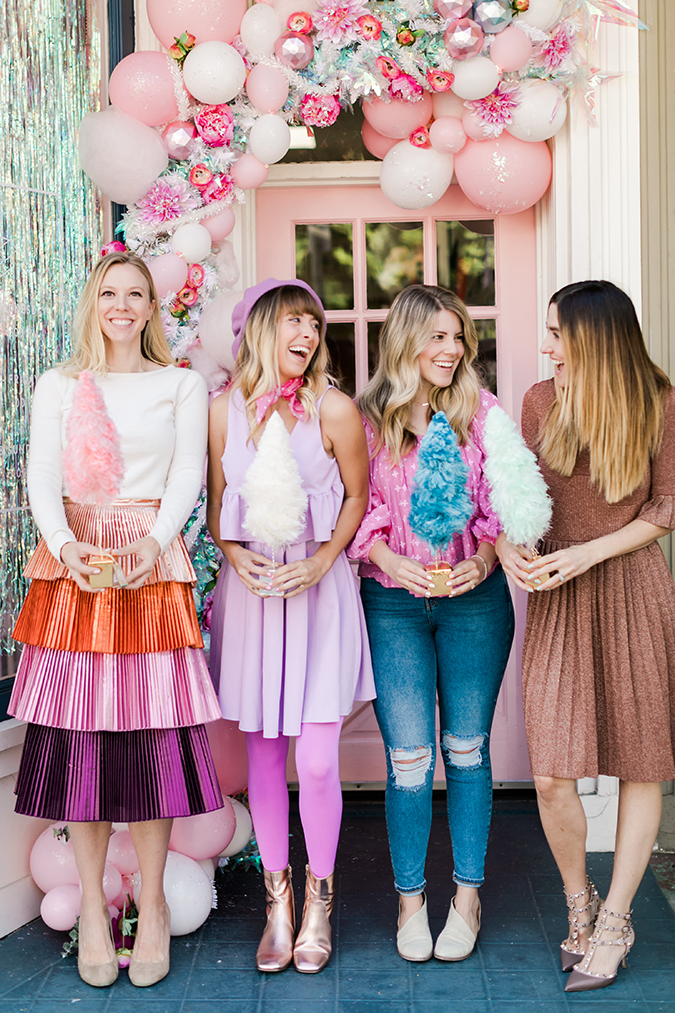 a pink christmas get together on LaurenConrad.com
