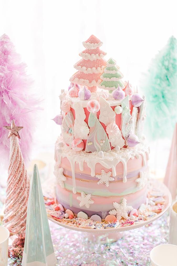 pink candyland christmas cake