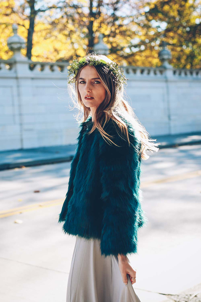 faux fur look on Jess Ann Kirby