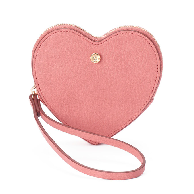 LC Lauren Conrad heart shaped wristlet