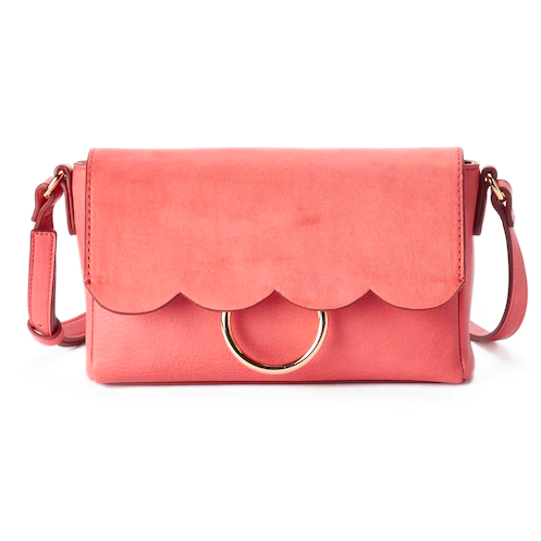 LC Lauren Conrad Scalloped Crossbody