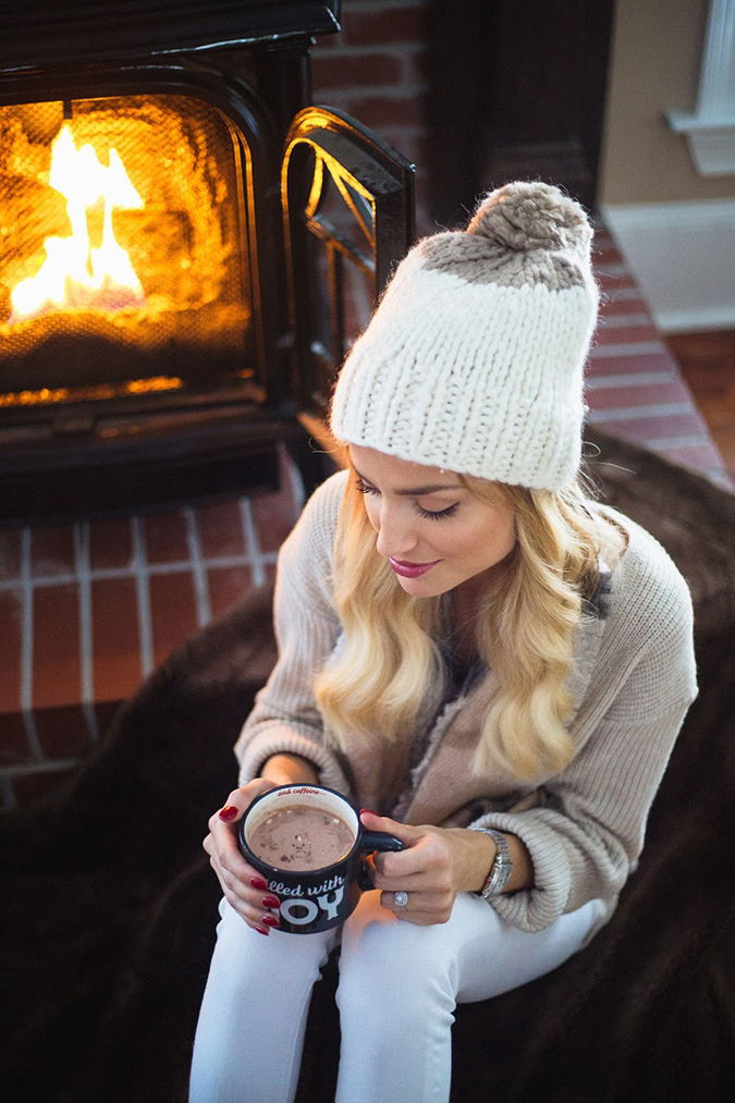cute winter beanie on Little Blonde Book