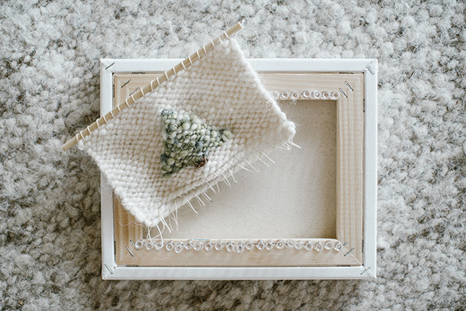 how to DIY a woven wall hanging via LaurenConrad.com