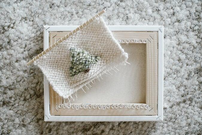 how to DIY a woven wall hanging via LaurenConrad.com