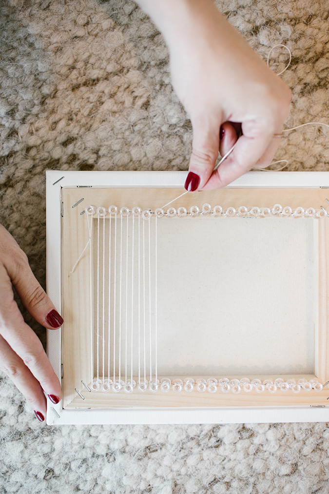 DIY woven wall hanging via LaurenConrad.com