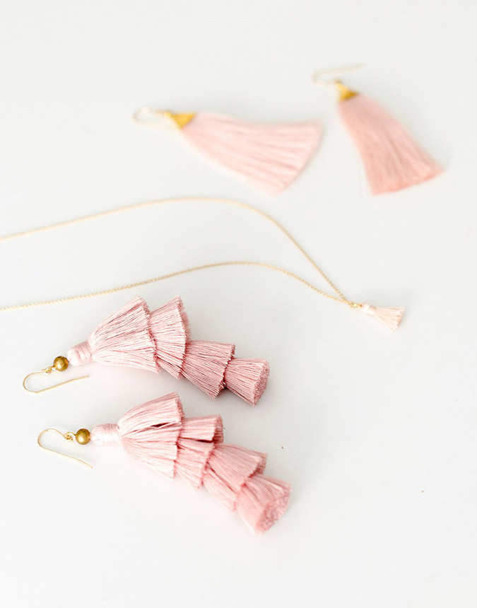 the little market tassel jewelry