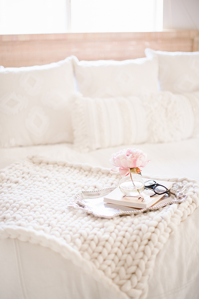 how to hand-knit a throw blanket via LaurenConrad.com