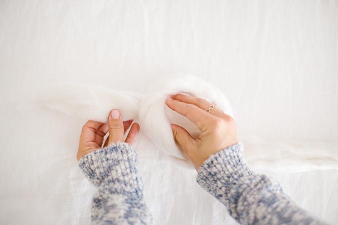 throw blanket tutorial via LaurenConrad.com