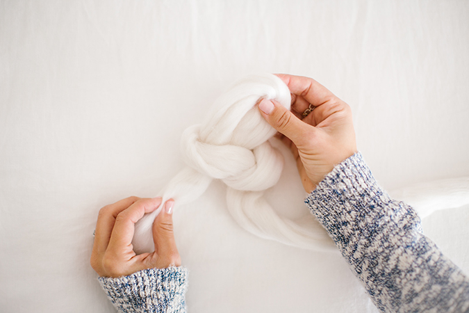throw blanket tutorial on LaurenConrad.com