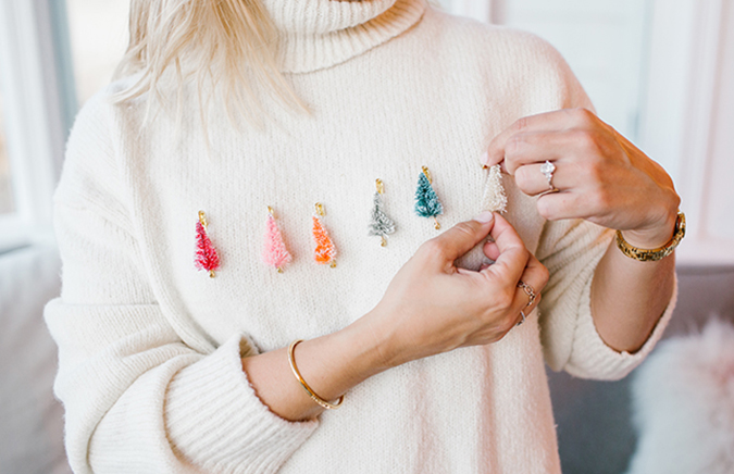 how to make a holiday sweater at home via LaurenConrad.com