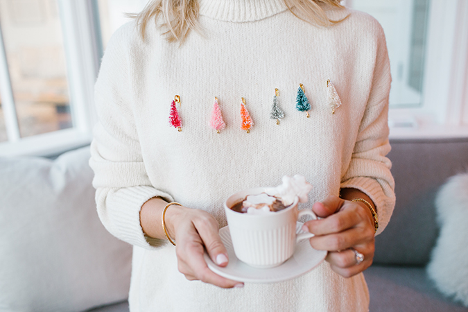 DIY ugly christmas sweater via LaurenConrad.com