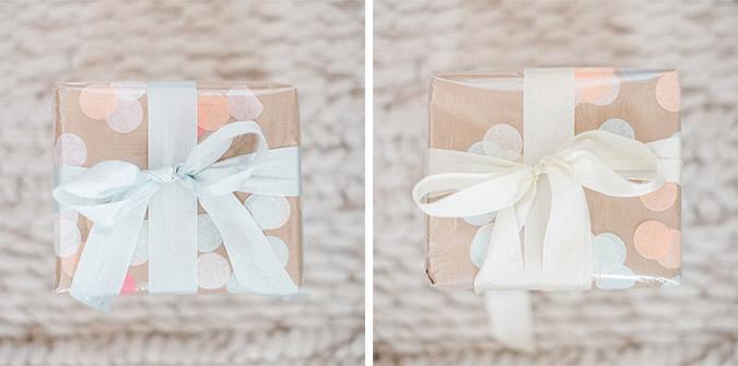 DIY cellophane gift wrap