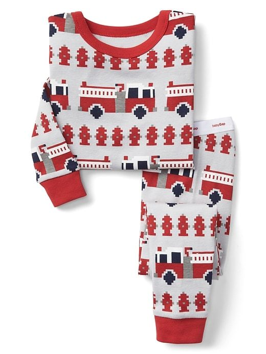 fire truck fair isle sleep set
