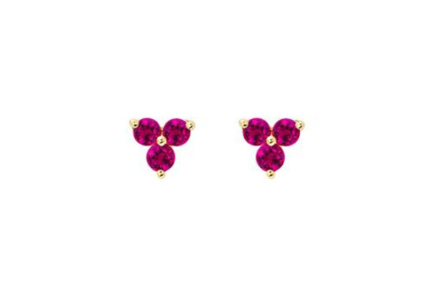 EF Collection Ruby Trio Studs
