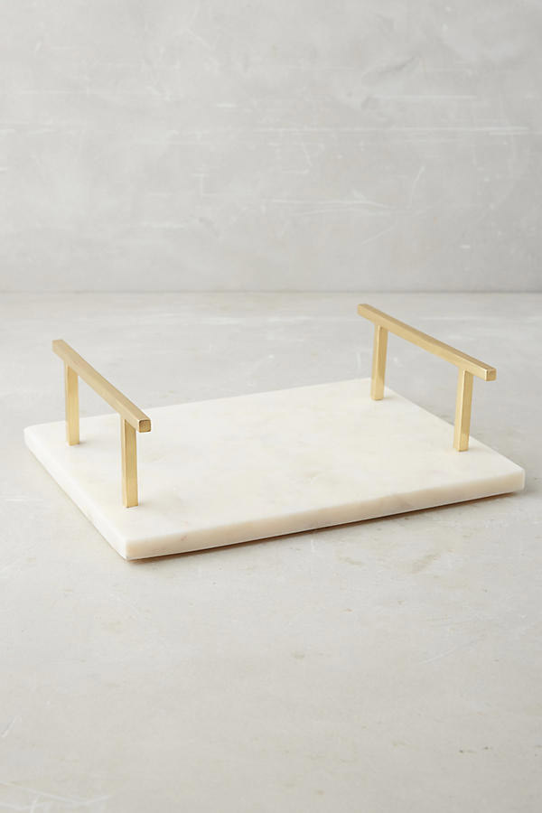 Anthropologie marble vanity tray