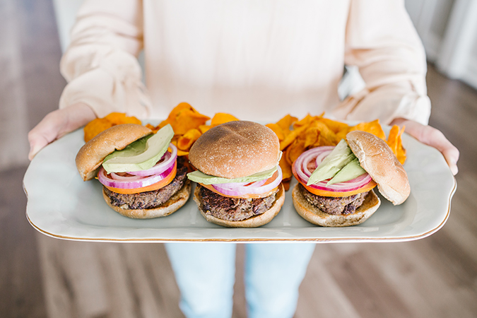 black bean burger recipe via LaurenConrad.com