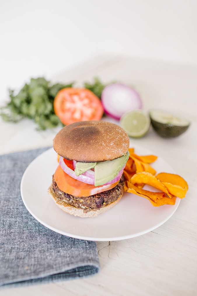 vegan black bean burgers via LaurenConrad.com