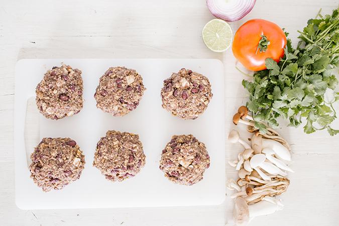 vegan black bean burgers recipe via LaurenConrad.com