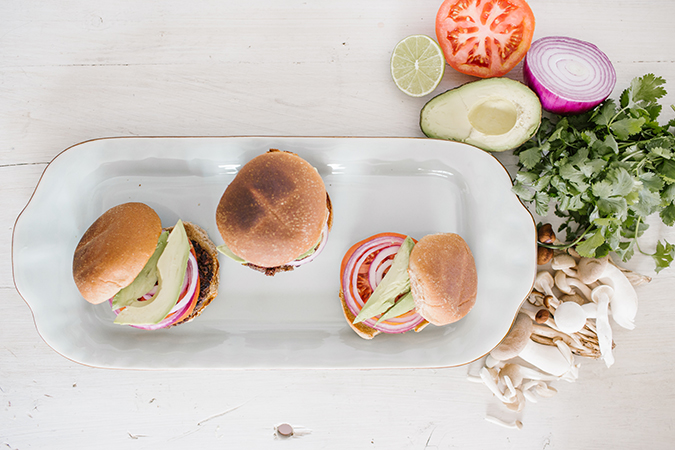 black bean burgers recipe via LaurenConrad.com