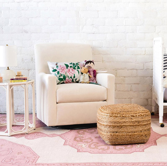 the chicest baby-proof ottomans and poufs