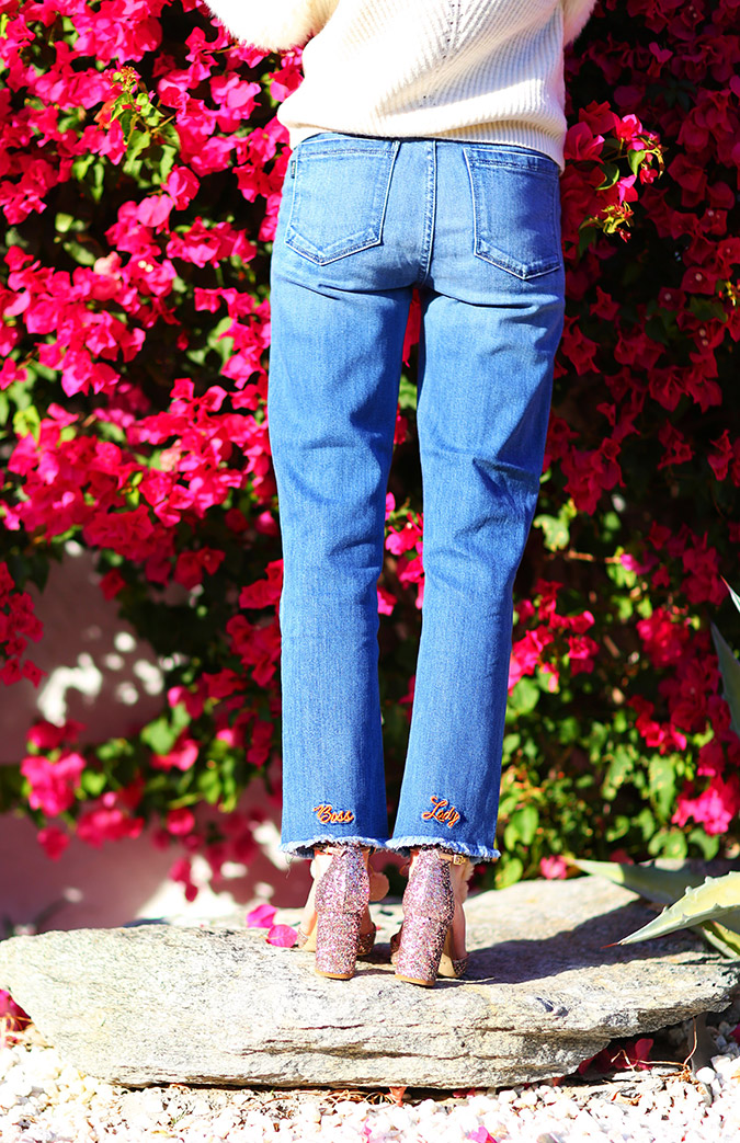 Kelly Golightly's 'Boss Lady' statement jeans