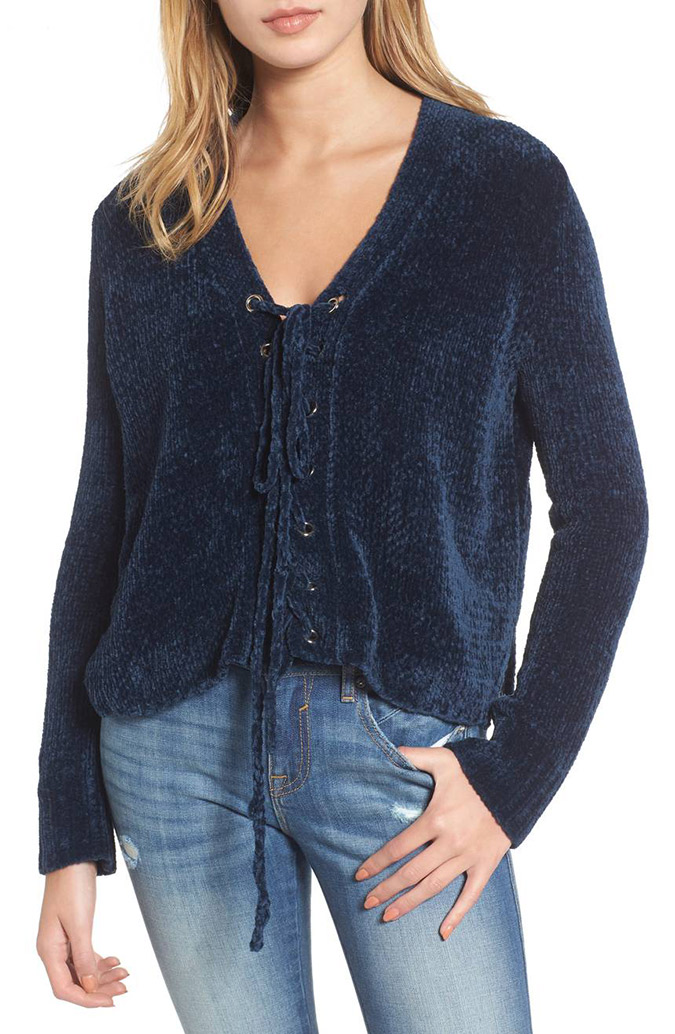 Lost and Wander chenille sweater