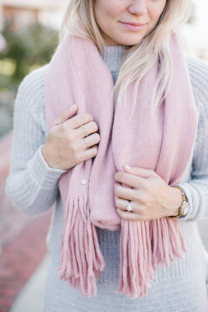 LC Lauren Conrad brushed knit scarf