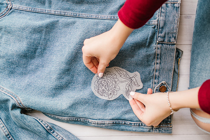 DIY embroidered denim tutorial via LaurenConrad.com