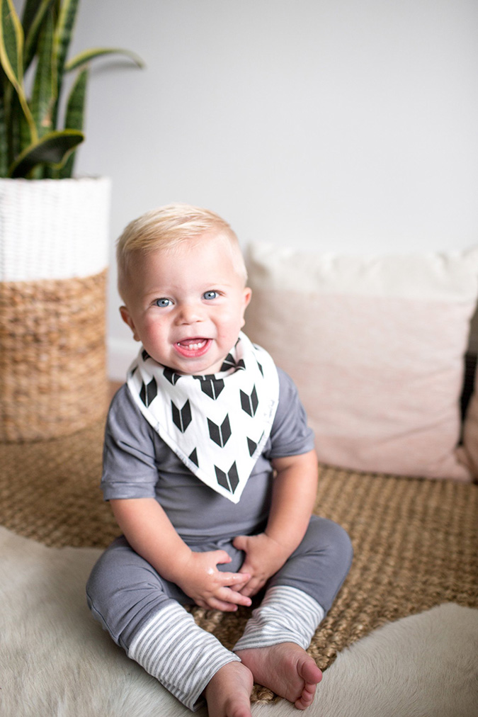 baby bandana bibs from copper pearl