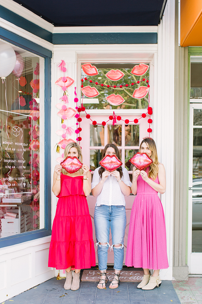 how to throw a pink and red galentine's party