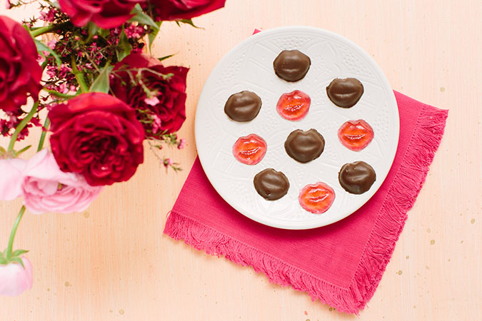 valentine's day chocolate covered gummies