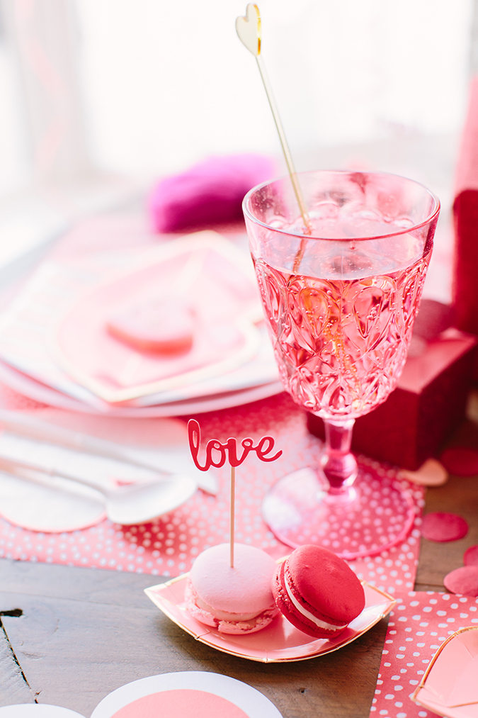 pretty galentine's day set up via LaurenConrad.com