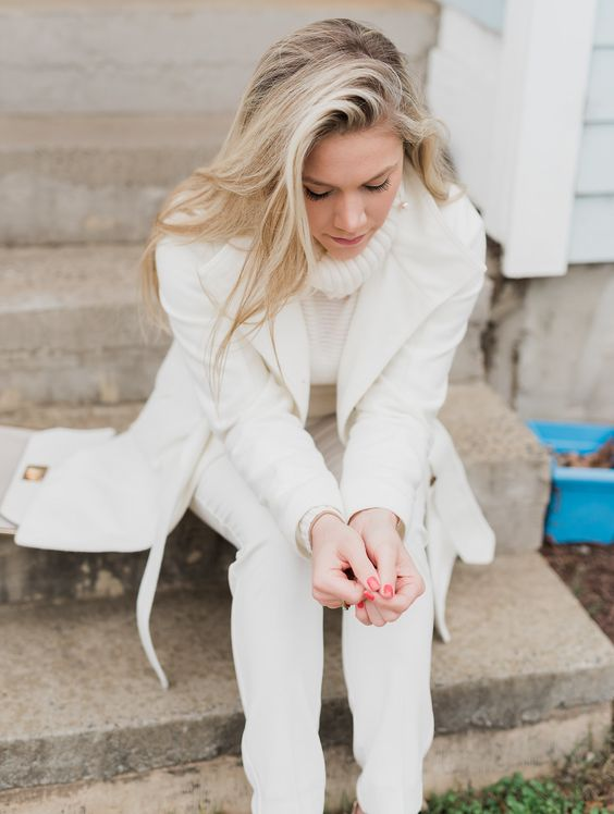 romantic winter whites