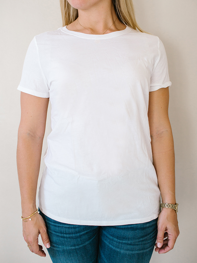 white tee from Gap