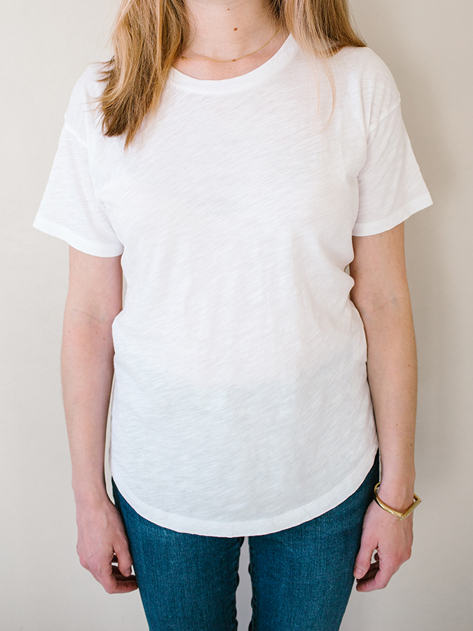 white t-shirt from Madewell