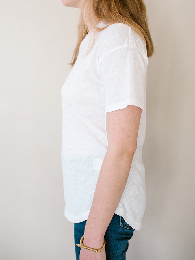 white tee from Madewell