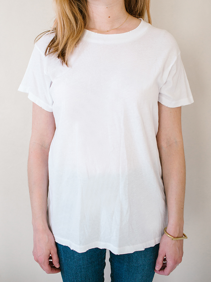 white tee from The Great
