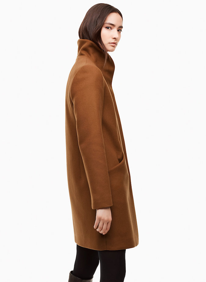 Wilfred Cocoon Coat in Cigar