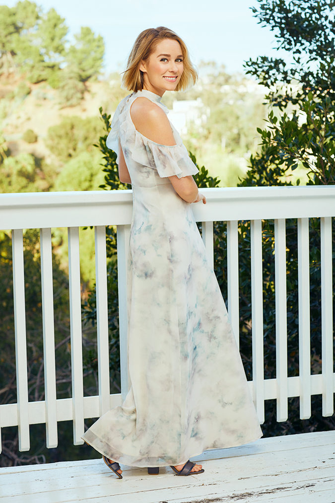Lauren Conrad wearing her spring collection for Kohl's
