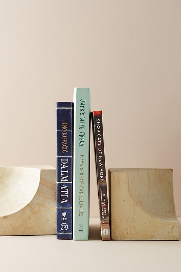 anthropologie sculpted bookends